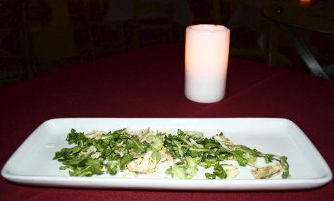 Baby artichoke salad Fresh produce from Santa Monica Farmers' Market