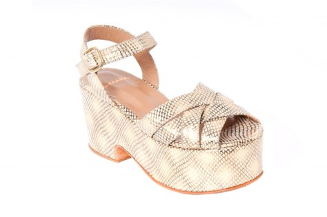 A beautifully designed platform, wedge-like shoe from the Buemia line that Soto designed