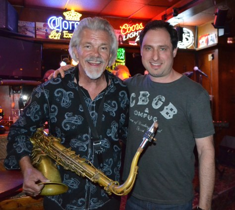 Cadillac Zack and saxophone legend Terry Hanck