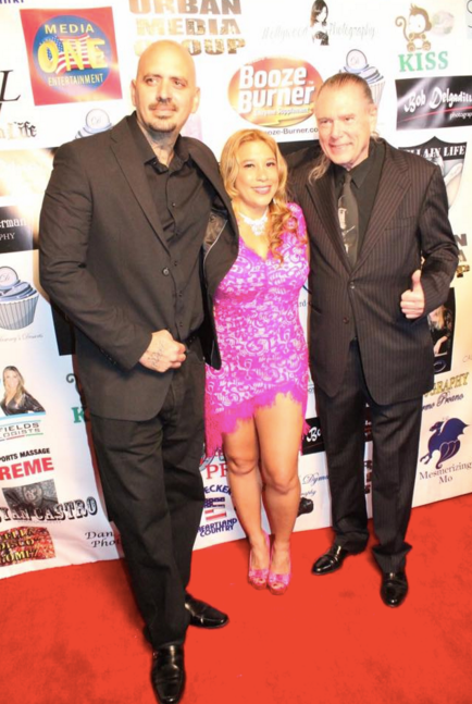 Jenna and Uncle Bob and their guest rock the red carpet!