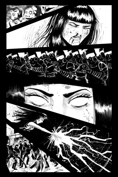 "A page from the comic book, ""VESNA"" created by Jason Alacrity and Megan Henerson"