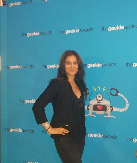 Nadia on the red carpet of the Geekie Awards, where she is a legal advisor