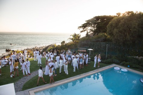 A view of the party from above at the Treats! Magazine 4th Annual White Party Sponsored By Stella Artois on September 17, 2016 in Malibu, California. (Photo by Gabriel Olsen/WireImage)