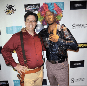 Brian with actor Rico E. Anderson