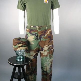 HOOT: Drill Sargent Camo Cap, Pants, Shirt & Belt