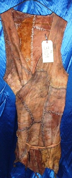 BATTLEFIELD EARTH: Leather Tribal Dress