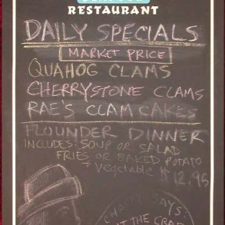 EULOGY: Docks Seafood Restaurant Chalkboard Menu