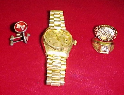 G-MEN FROM HELL: Robert Goulet Rings, Watch, Cuff