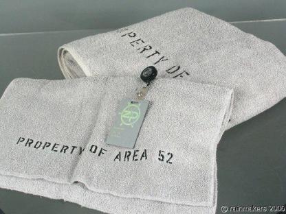 ZOOM: Property Of Area 52 Towels Zenith Program