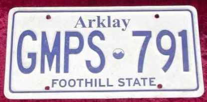 RESIDENT EVIL: Arklay License Plate