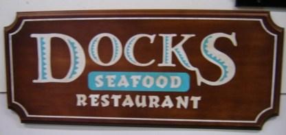 EULOGY: Docks Seafood Restaurant Wooden SIgn