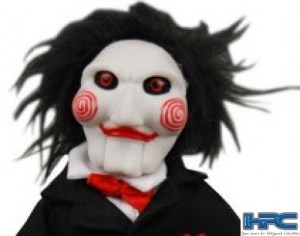 JIGSAW'S PUPPET AUTOGRAPHED BY COSTAS MANDYLOR