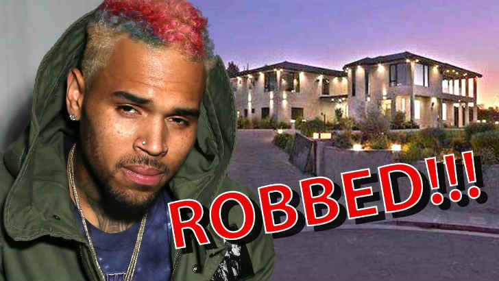 クリス・ブラウン 自宅豪邸に深夜に強盗が押し入る あわや鉢合わせ