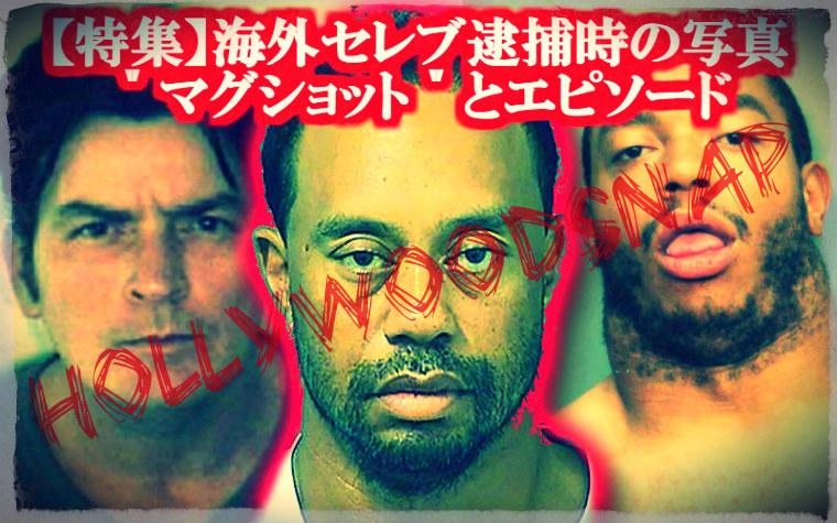 海外セレブ 逮捕時の写真 マグショット