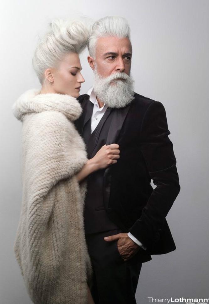 かっこいい老人の白髭
