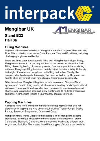Mengibar UK - Interpack information sheet 1