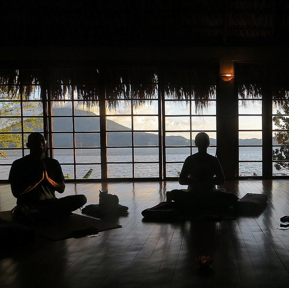 Lake Atitlan view from the Guatamala yoga retreat center
