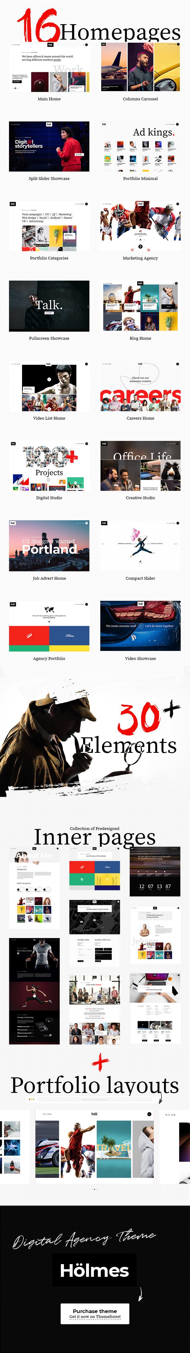 Holmes - Digital Agency Theme - 1