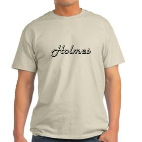 holmes_surname_classic_design_tshirt 2