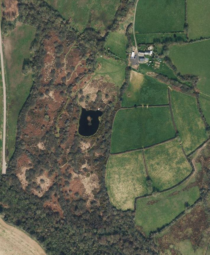 Wilderness walks aerial view