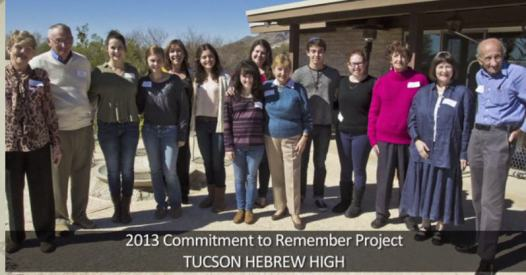 2013 commitment to remember project tucson hebrew high