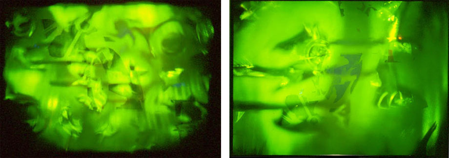 Photographs of Brigitte Burgmer's Future Perfect I and II, 1988