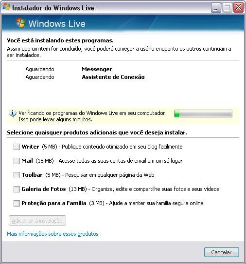Verificando Windows Live