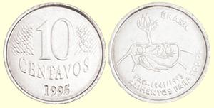 10 centavos de Real - 50 anos da FAO