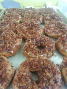 Maple Bacon Donuts @ Lanky's