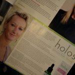 Holos Skincare Niamh Hogan in RSVP magazine