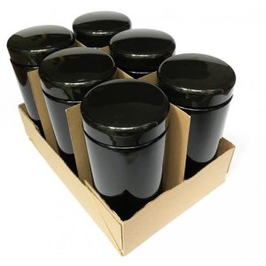 1000 ML 6 PACK Miron Violet Glass 1000 ML wide mouth - Black jars