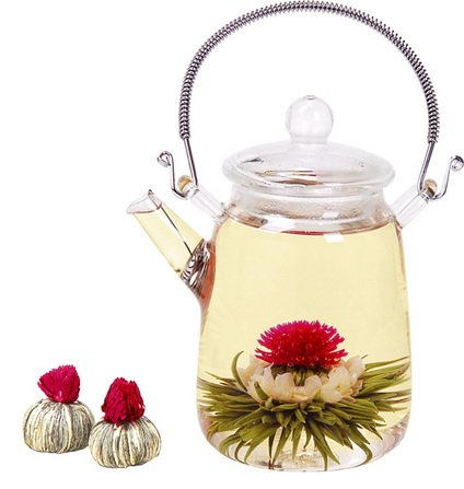 40 Flowering Tea Balls, flowers tea, white tea, Flowering tea, blooming flowers, tea gift for her, handmade, girlfriend gift, handmade tea