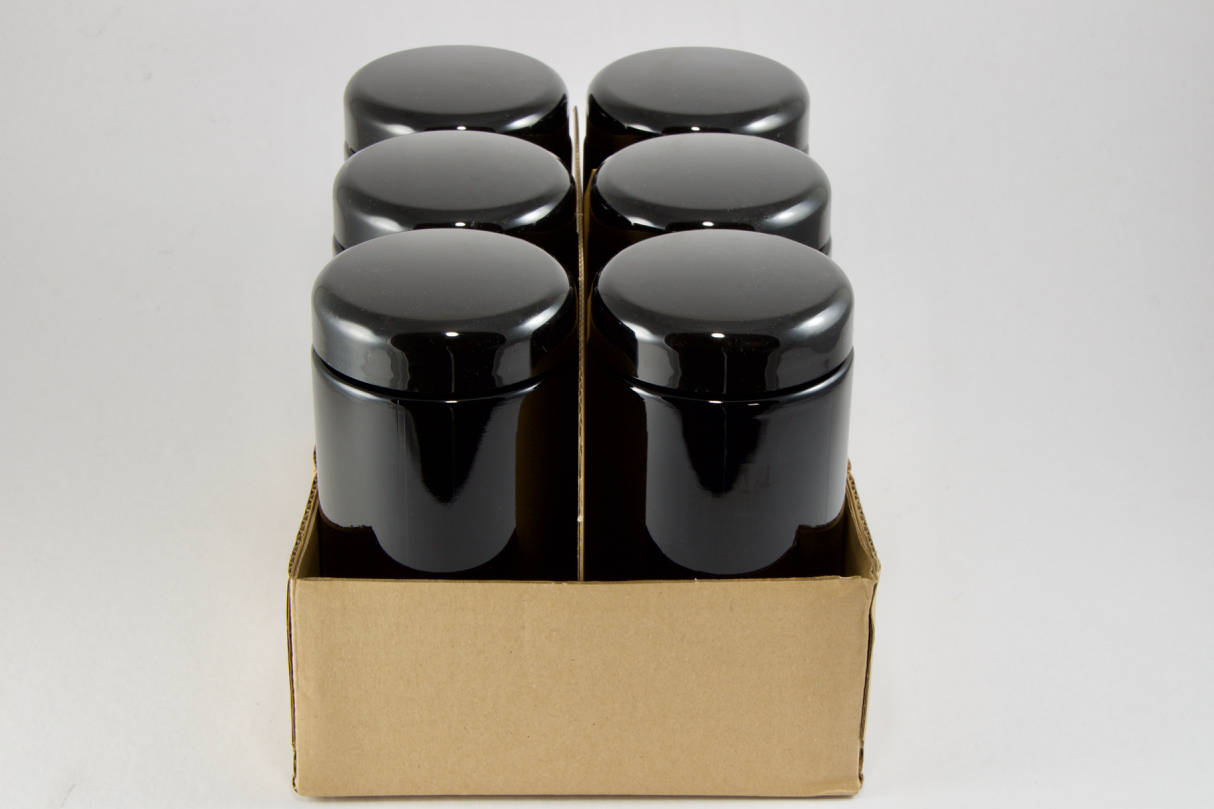 Black Jars, 6 PACK 500 ML Miron Violet Glass, Containers, Candy Buffet Jar