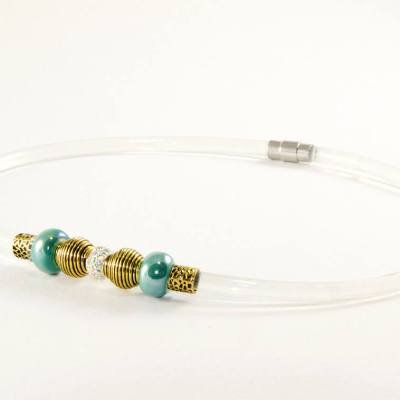 Plasma health necklace, headache, migraine, neck pain, RSI, Gold, KESHE CO2, Plasma activated, depression, anxiety