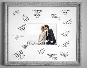 Signature Boards for guests signing on wedding day