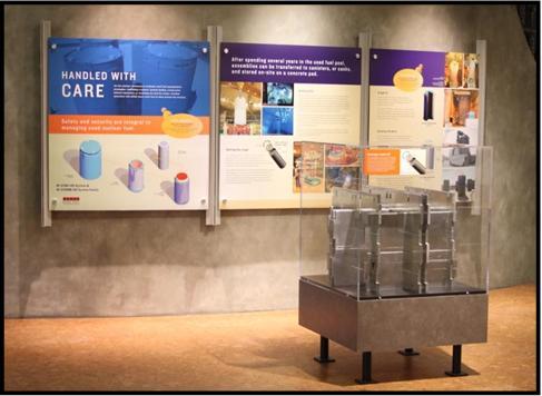 Phase 1 Holtec Exhibit: Educational Panels & Mock-Up MPC Basket