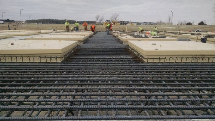 Rebar for the Top Pad (January 2015)