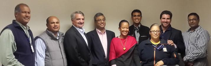 Eskom and Holtec Project Teams From left to right: Alan Lawrence (Eskom); Haaroen Sataar (Eskom); Steve Wright (Holtec); Debu Majumdar (Holtec); Kelebohile Makhothe (Eskom); Tayeb Jappie (Eskom); Sheilah Brown (Eskom); Rick Springman (Holtec); Luren Chetty (Eskom)