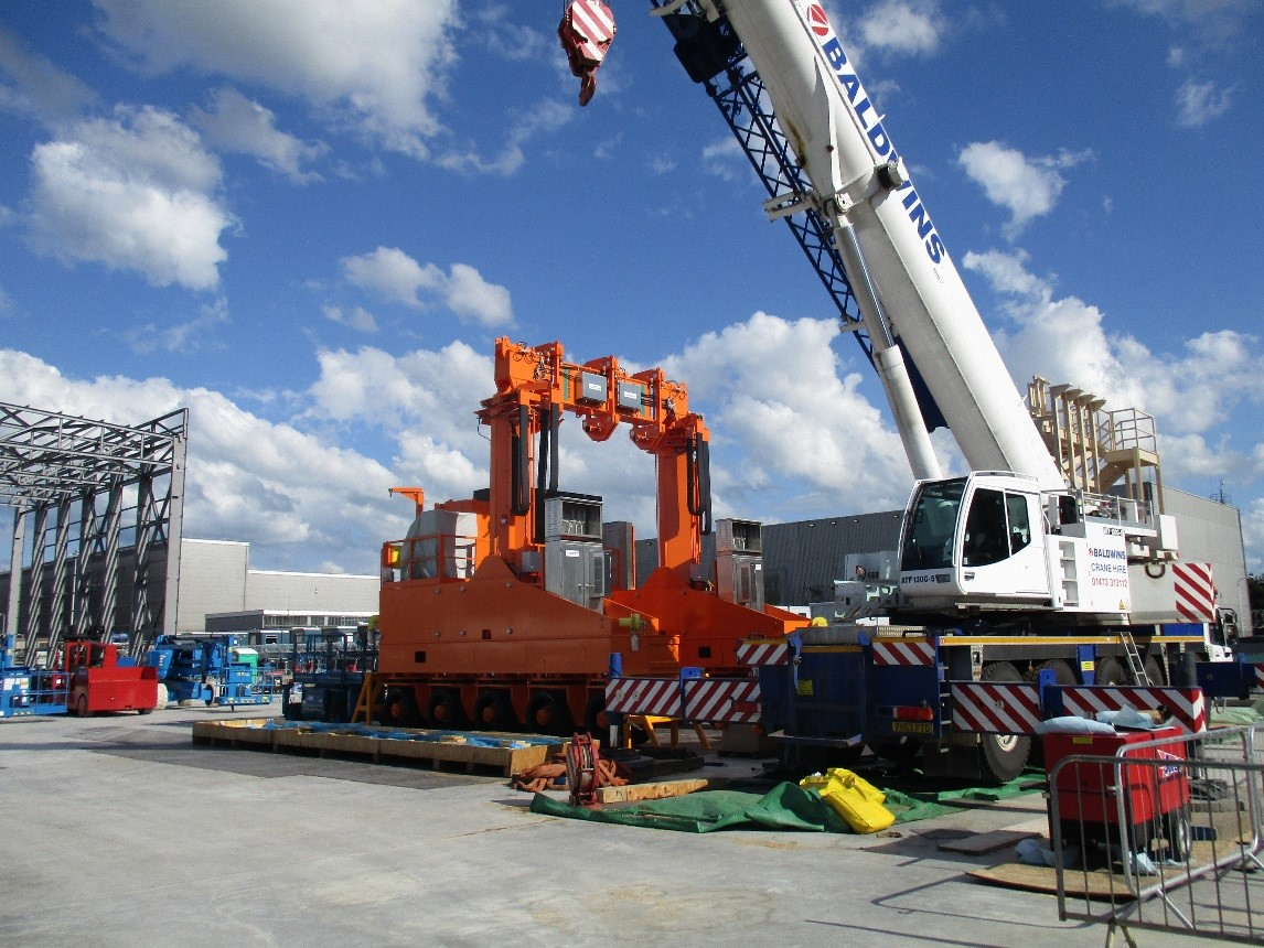 Lifting Transporter Being Assembled on Site
