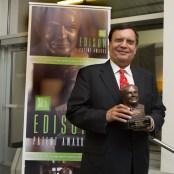 Dr. K.P. Singh holding the Thomas Alva Edison Patent Award (photo taken at the Thomas Edison National Historical Park in West Orange, NJ)
