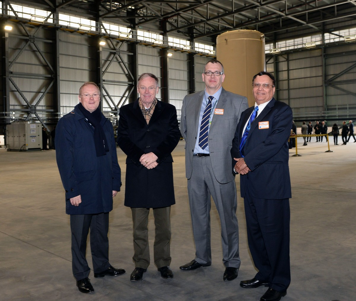 Dry Fuel Store Opening, March 31, 2016 From Left to Right:Stuart Crooks, Managing Director – Generation, EDF Energy; Vincent de Rivaz, CEO, EDF Energy; Paul Morton, Sizewell B Station Director, EDF Energy; and Dr. Kris Singh, President and CEO, Holtec International