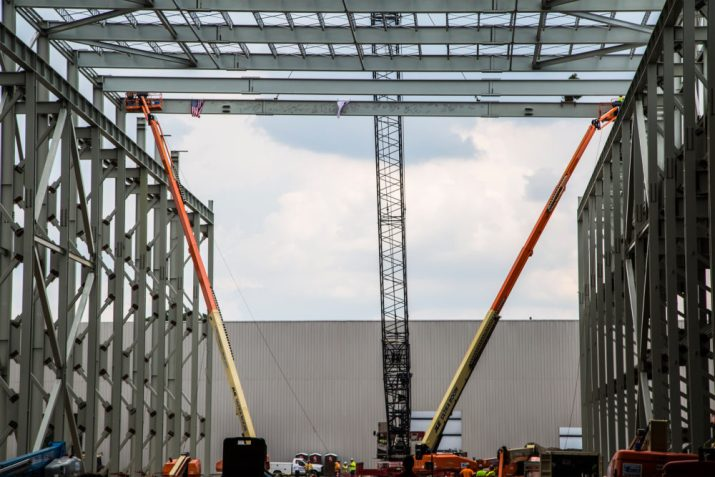 Installation of the Massive Steel Girder Bearing Signatures of the Attendees