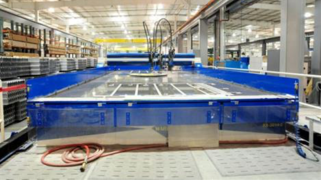 Water Jet Cutting of Metamic HT Panels