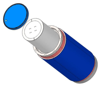 HI-STAR 190 with canister in view
