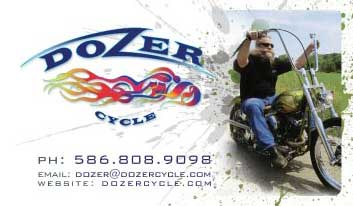 Dozer Cycle business card