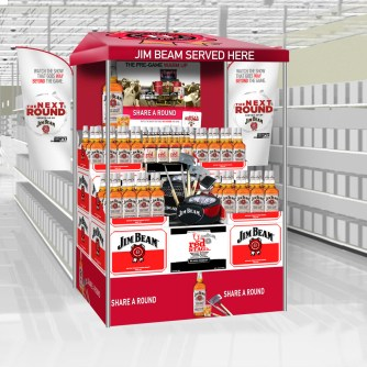 Jim Beam Q3 End Aisle display comp