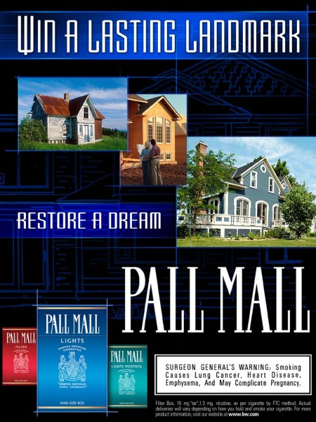 Pall Mall pitch - case card design