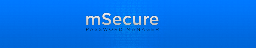 mSecure App Store banner design, blue (no icon)