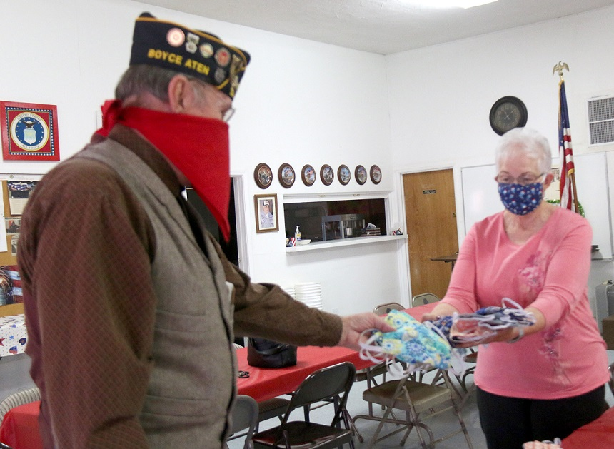 Holtville's Bradley-Keffer Aux Unit 138 Makes Masks