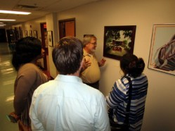 In the gallery at the archives, historic images line the walls reminding visitors of Tuskegee's significance.